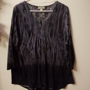 One World studded tunic